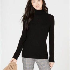 CHARTER CLUB 100% Black Cashmere Sweater